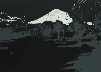 Agung; géographie des cendres I, 50 x 91 cm, 2011