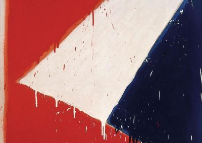 Sans titre (Série bleu blanc rouge), 76 x 76 cm, 1976, SOLD
