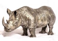 Rhinocéros noir, 43.2 x 21.6 x 12.7 cm, 2018