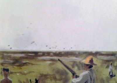 Hippolyte à la chasse , 49.5 x 29.5 cm, n.d., SOLD