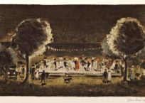 La fête , 29.5 x 49.5 cm, n.d.