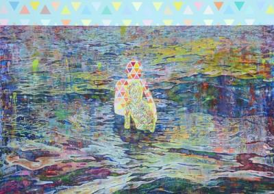 Les baigneurs, 244 x 183 cm, 2017