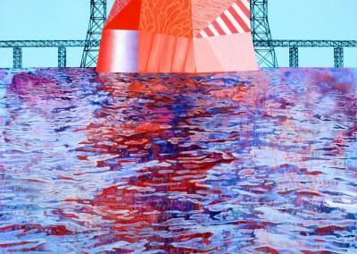 L'île, 122 x 122 cm, 2018