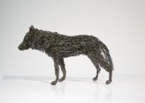 Loup gris, 14.5 x 24 x 8 cm, 2009