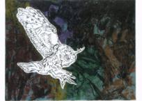 Oiseau de Nuit , 58.5 x 77.5 cm, 1968, VENDU