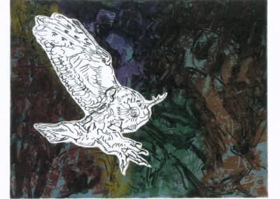 Oiseau de Nuit , 58.5 x 77.5 cm, 1968, SOLD