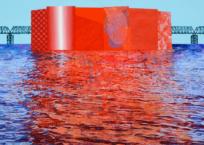 L'île rouge, 107 x 213 cm, 2018