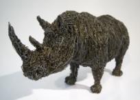 Rhinocéros noir, 16 x 34 x 12 cm, 2009, SOLD