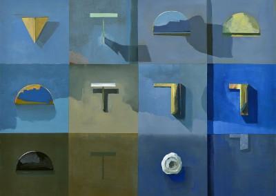 La géométrie et le bleu, 76.2 x 101.6 cm, 2016