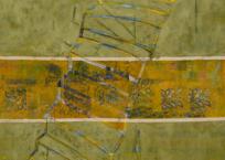 Escalera en tres partes, 163 × 163 cm, 2012