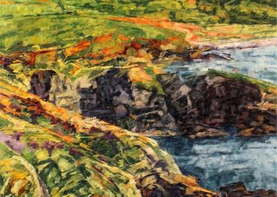 Falaises - vers Abermawr, 135 x 96.5 cm, 2016