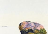 Rocher – été, 46.5 x 46.5 cm, 2016, VENDU