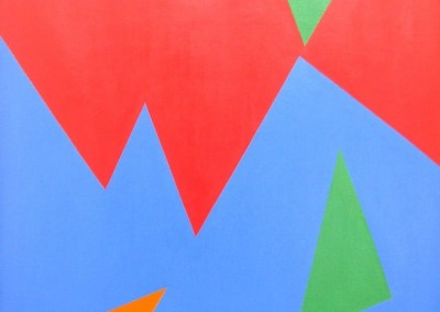 Composition triangle vert, 81 x 65 cm, 1960, SOLD