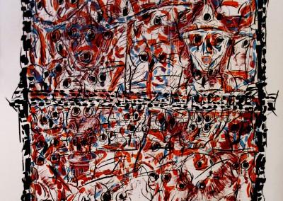 Oiseaux à la fenêtre, 71.5 x 52.5 cm, 1980