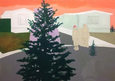 Quelque part au nord, 107 x 153 cm, 2016