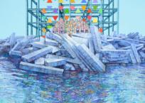 L'embacle, 76 x 122 cm, 2018