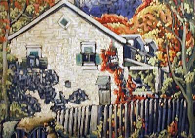 Maisons à Ste-Rose, 56 x 70 cm, 1937