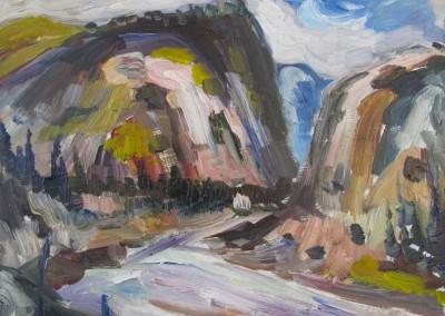 Entrée des Monts, 29.7 x 34.5 cm, n.d., VENDU