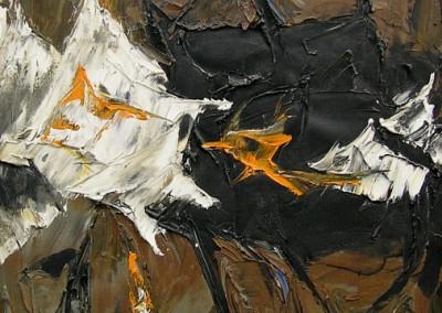 Entre Mars et Saturne, 61 x 50.8 cm, 1961, VENDU