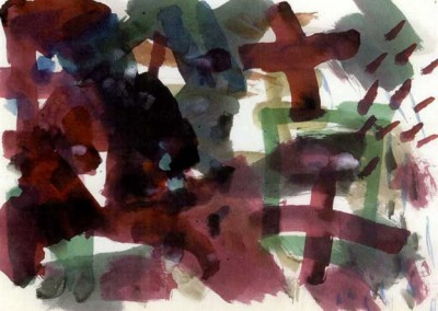 Composition No. 3, 35.5 x 45.7 cm, 1954, SOLD