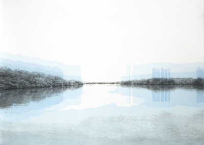 Eveline Boulva, Le chenal du haut estran II, 51 x 61cm, 2019