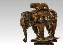 Éléphant et tigre, 57 x 28 x 48.5 cm, 2014