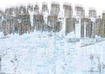 Les urbanités (scène 1), 59 x 122 cm, 2013
