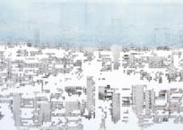 Les urbanités, (scène 2), 59 x 122 cm, 2013