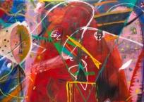 Sans titre (Série Les Masques), 130 × 210 cm, 1985